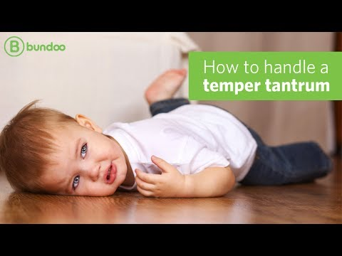 How to handle a temper tantrum