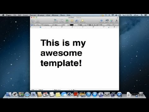 How to Create an Apple Pages Template : Apple Product FAQs