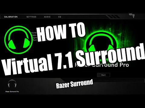 HOW TO: Virtual 7.1 Surround - Razer Surround - Surround on any headphones!