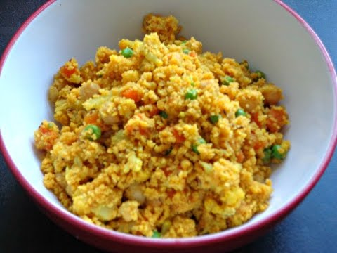 Tasty CousCous with Chickpeas and Veggies | Healthy CousCous Recipe