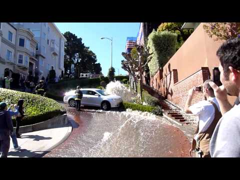 Lombard Street, San Francisco - Water Hydrant Accident