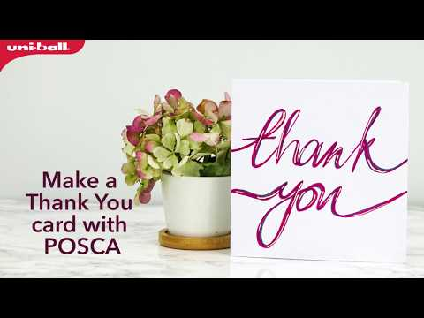 Posca Thank You Card Design