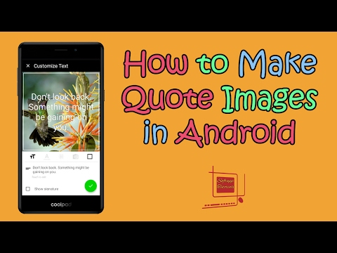 How to Make Quote Images in Android