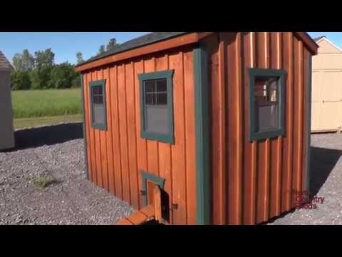 6' X 10' Chicken Coop A-Frame Style (Holds 18-22 Chickens)