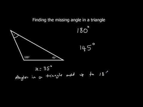 Finding a missing angle in a triangle