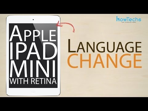 Apple iPad Mini Retina - How to change language