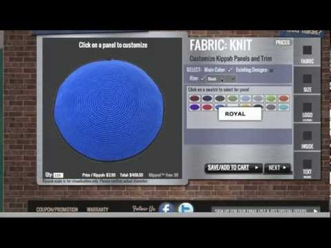 KippahShop - How To Create A Custom Knit Kippah