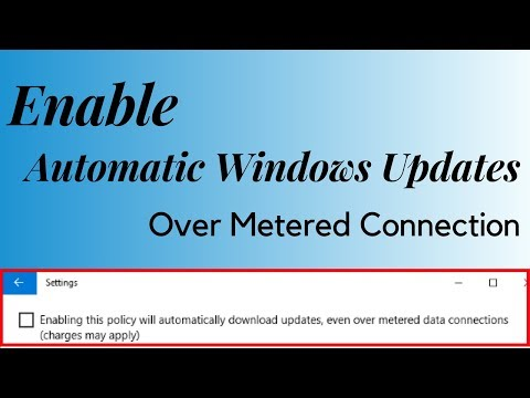 How To Enable Automatic Windows Updates Over Metered Connection
