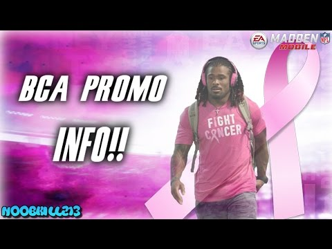 Madden Mobile 17 BCA Promo Info!! (Breast Cancer Awareness)