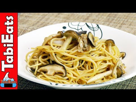 JAPANESE SPAGHETTI with Mushrooms (Easy Pasta Recipe)