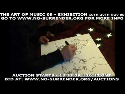 STEREOPHONICS CREATE ART LIVE FOR CANCER CHARITY NO SURRENDER EXHIBITION AND AUCTION - NOV 09