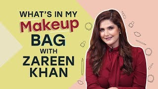 Zareen Khan: What's in my makeup bag | Bollywood | Pinkvilla | Fashion