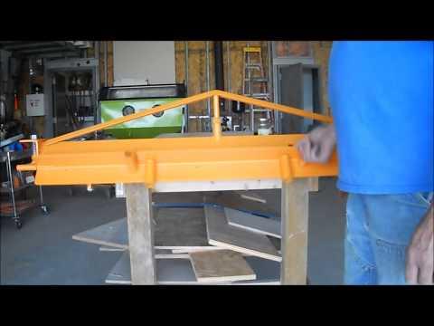 Home made sheet metal brake (sheet metal bender)