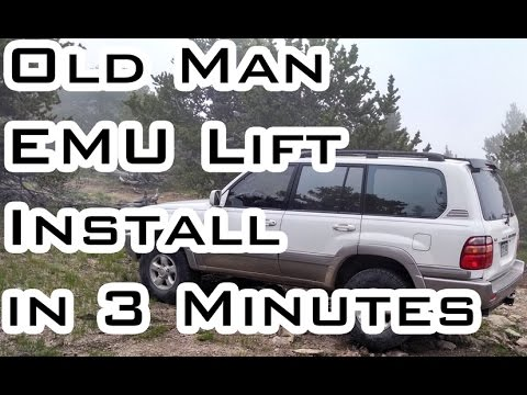 Lift Install in 3 Minutes - Timelapse - Land Cruiser