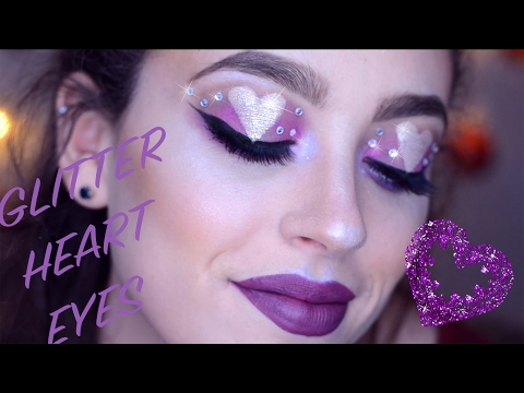 GLITTER HEART EYES | Valentine's Day Makeup!