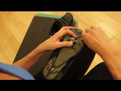 How to Install SPD Clips on Cycle Shoes : Indoor Cycling