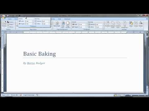 Customise toolbar and ribbon in Word 2007