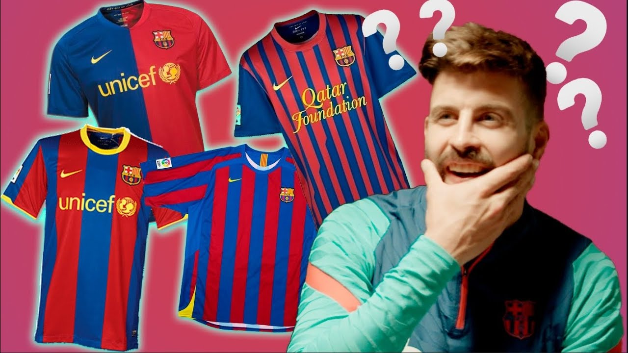 Can Gerard Piqué guess the season of these kits? 🤔