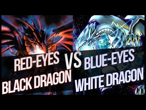 Red-Eyes Black Dragon vs Blue-Eyes White Dragon!