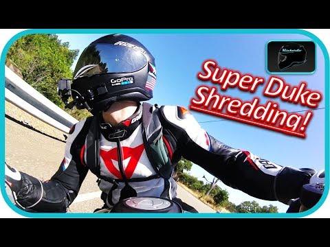 Super Duke Corner SHREDDING!!! New Super Duke WHEELIES | Cornering!@