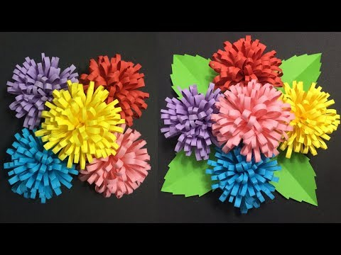 How to Make Flower with Colored Paper | Making Paper Flowers Step by Step | DIY-Paper Crafts