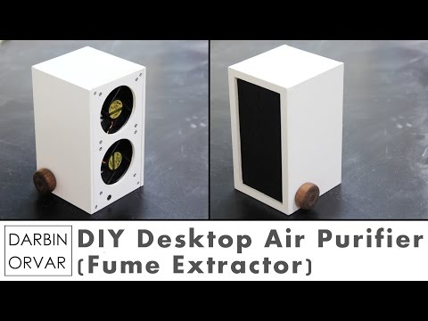 Desktop Air Purifier w/ Computer Fans (Fume Extractor for Soldering)