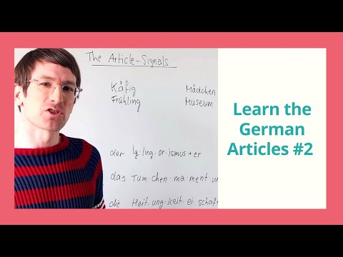 A1-B1 German Grammar Course | Day 01-Article Signals