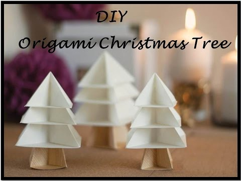 DIY Origami Tree | Modular Christmas Tree | Easy Paper Crafts | 3D Paper Tree