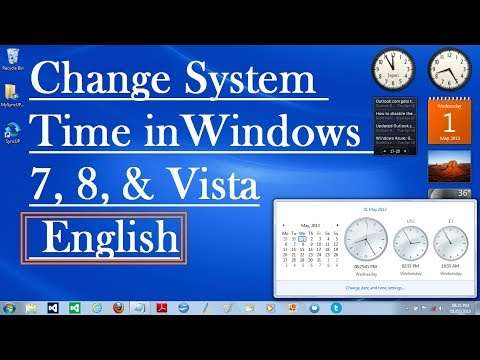 How To Change System Time in Windows 7, 8, & Vista [ English ]