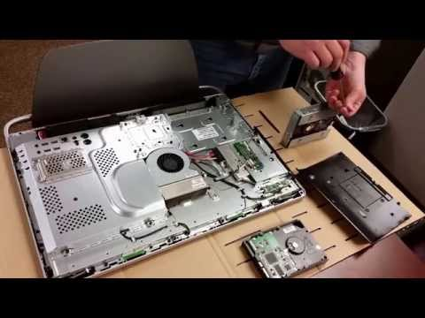 How to replace a hard drive and RAM in an HP TouchSmart 520 PC