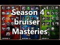 League of Legends! Season 4 Bruiser Masteries!