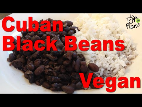 Authentic Cuban Black Beans in slow cooker (oil-free, vegan)