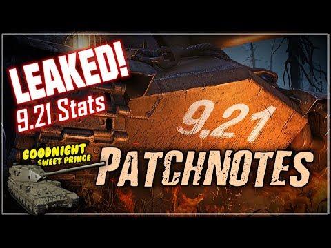 LEAKED! 9.21 Patchnotes || World of Tanks