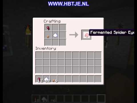 How to create a fermented spider eye in minecraft