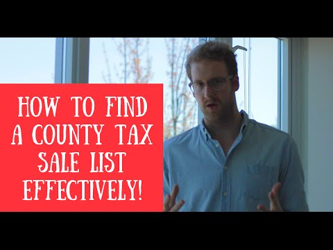 Finding A County Tax Sale List Quickly (TLTV Ep13)
