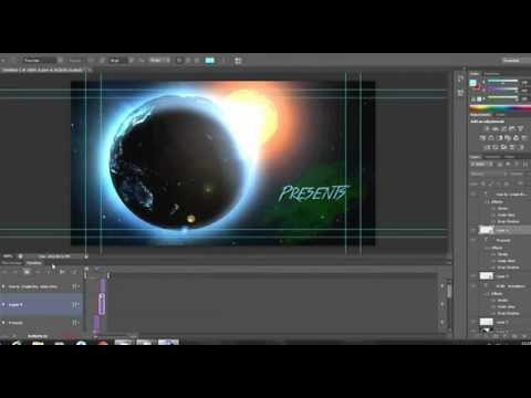How to create a video or video intro through Adobe Photoshop CS6 (Part 1)