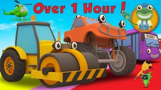 Rick The Road Roller and More Trucks For Children | Gecko's Garage