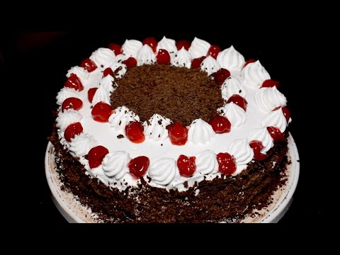 Black Forest Cake Recipe in 10 minutes - Microwave Black Forest Cake - Chocolate Cake Recipe