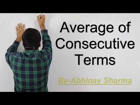 Average - Consecutive Terms , Even Numbers and Odd Numbers by Abhinay Sharma