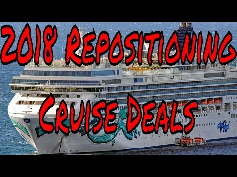 Cruise Ship Vacation Repositioning Deals for 2018 From Only $32 a Day