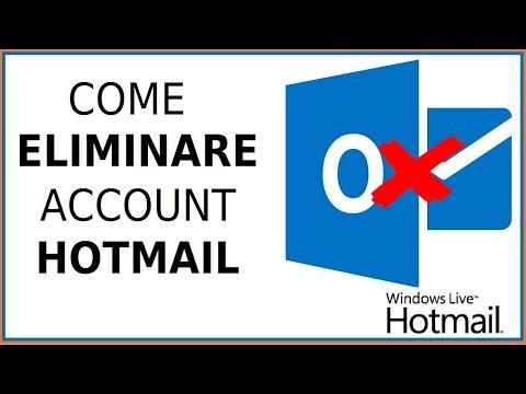 come eliminare account hotmail da pc cancellare email msn computer