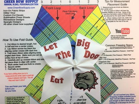 How To Make Cheer Bows With Text And Graphics