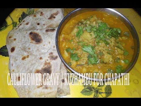 Cauliflower Gravy | Cauliflower Kuzhambu | Cauliflower Curry Without Coconut | Gobi Masala Recipe