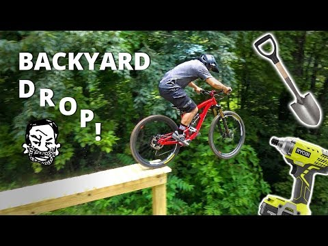 Backyard North Shore MTB Drop - Building and Riding