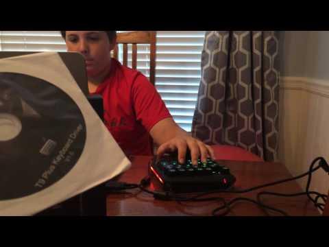 Mechanical Gaming Keypad, aLLreLi T9 Plus Programmable Single-handed Keyboard