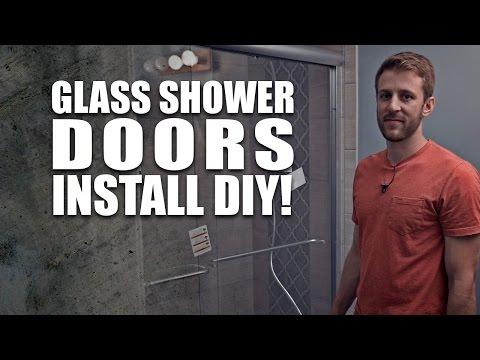 sliding glass shower doors Install - DIY DORKZ Season 01 Ep. 06