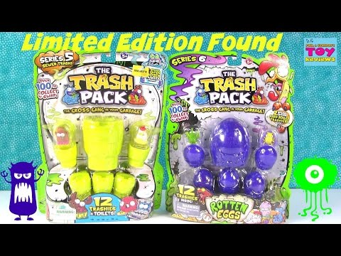 Zomlings 3 Blind Bags Vs Trash Pack 5 Toilets Opening Toy Review In