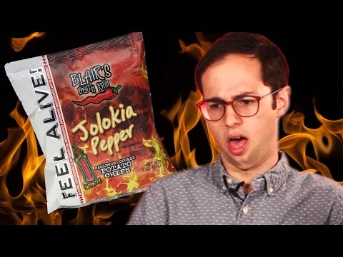 Extremely Spicy Snack Taste Test