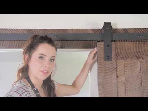 Barn Door Assembly instructions Install for Horizontal Slat Door