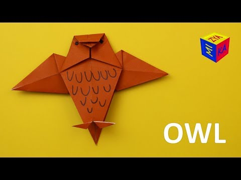 How to make a paper owl easy. Origami DIY toys for kids